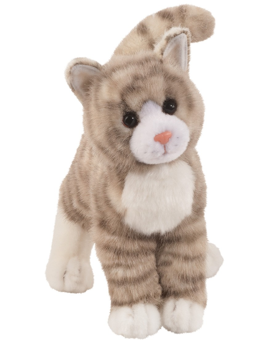 Zipper Gray Tabby Cat Douglas Toys