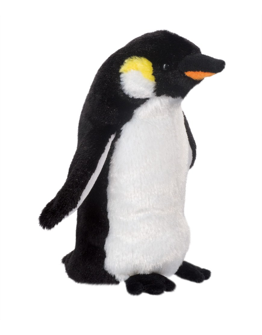 Baby emperor penguin stays with its parents at the polar house of - Douglas Bibs The Emperor Penguin Plush