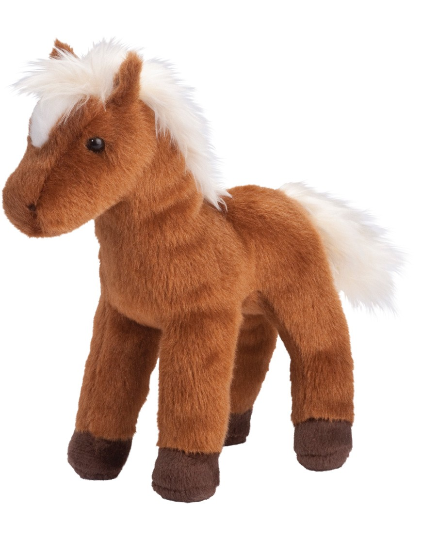Stuffed Horse Toy : Mr brown chestnut horse douglas toys