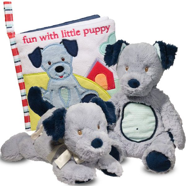Baby Boy Blue Puppy Gift
