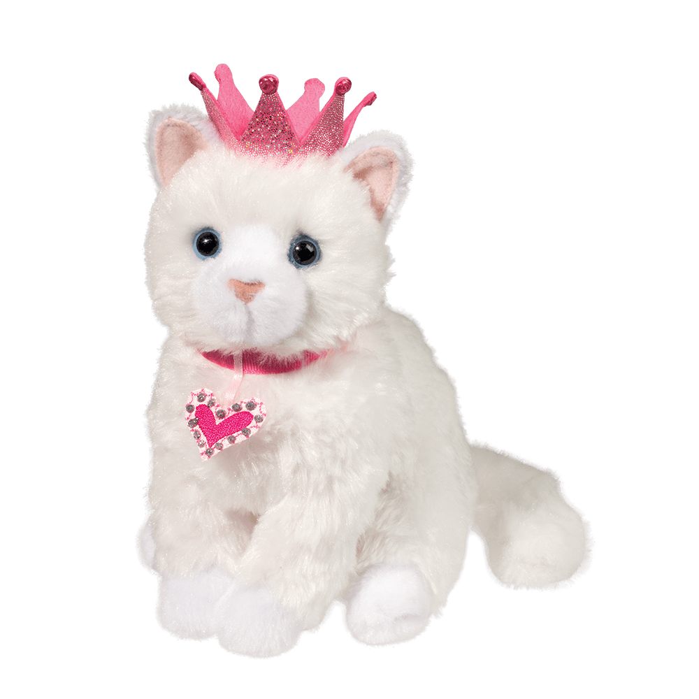 Dutchess White Cat with Crown