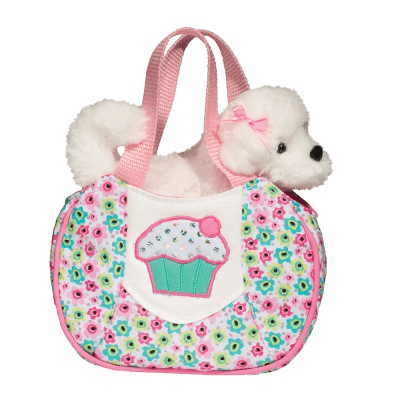 Cupcake Sassy Pet Sak with White Dog