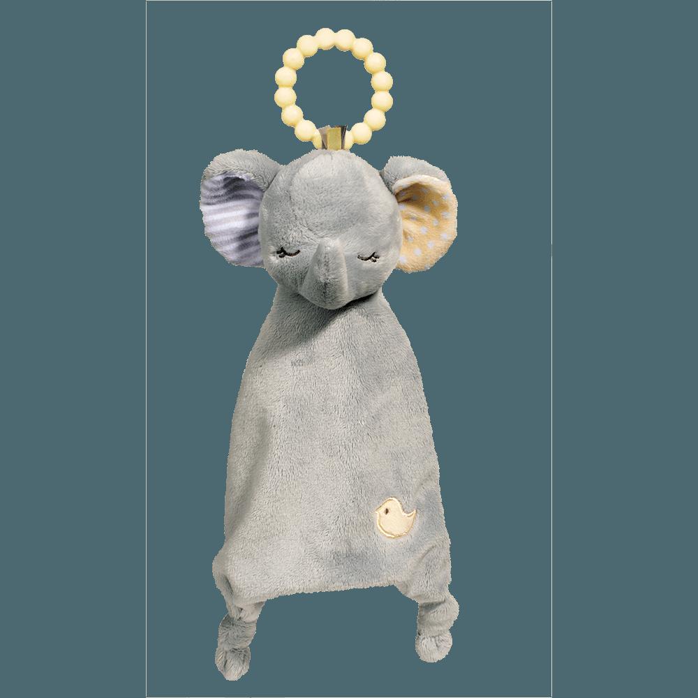 Gray Elephant Lil' Sshlumpie Teether Blankie