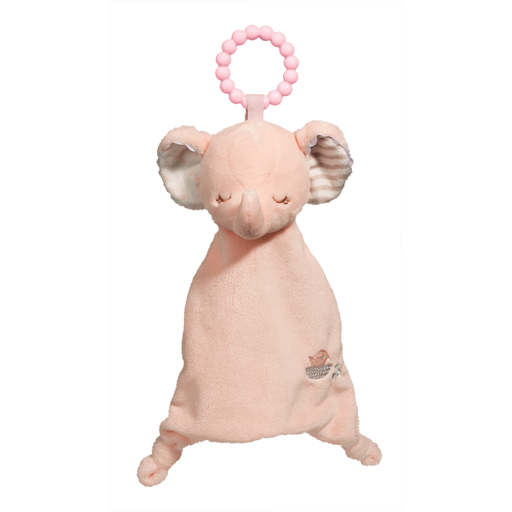 Pink Elephant Lil' Sshlumpie Teether Blankie