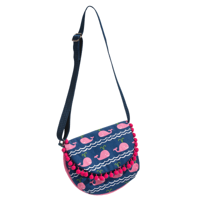 Pink Whale Crossbody