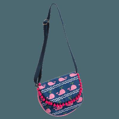 Pink Whale Crossbody