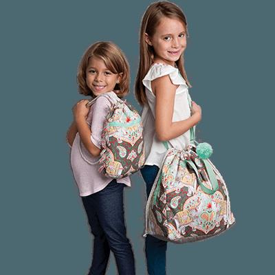 Girls with Elephant Bag