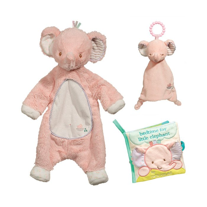 Sweet pink elephant baby gift set douglas cuddle toy pink elephant baby gift set negle Images
