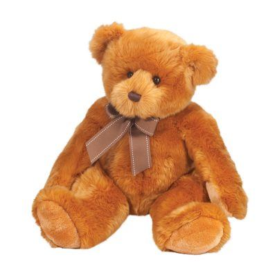 Classic soft, brown teddy bear stuffed animal.