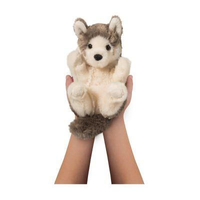 Lil' Handful stuffed animal wolf.