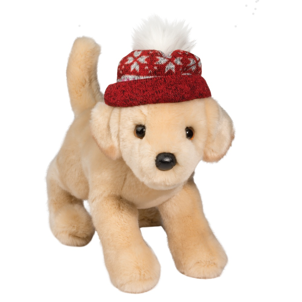Yellow Lab With Hat Douglas Toys