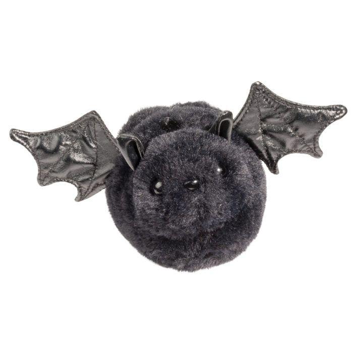 little black plush bat