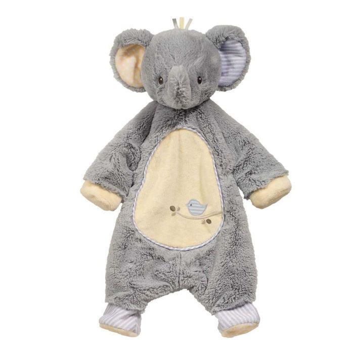 grey elephant baby snuggler sshlumpie