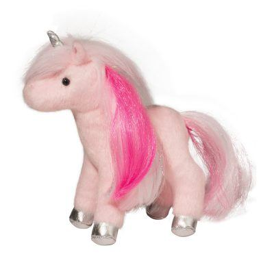 Ava pink mini unicorn stuffed animal.