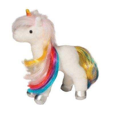 Mini rainbow stuffed animal unicorn