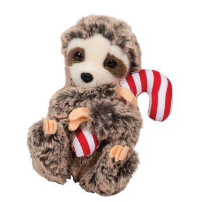 holiday sloth stuffed animal.