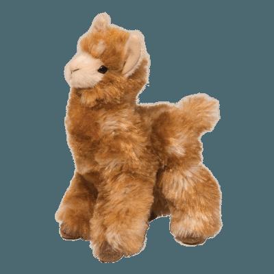 Long haired llama stuffed animal