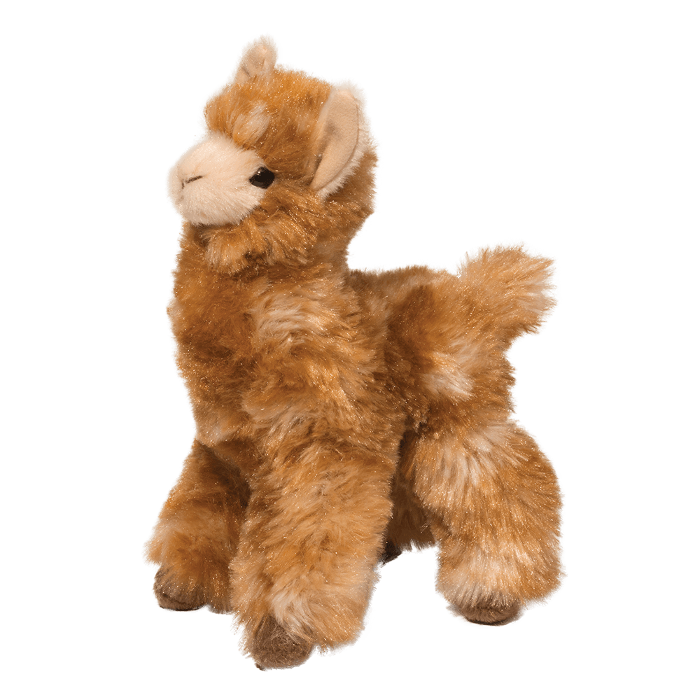 Long haired llama stuffed animal