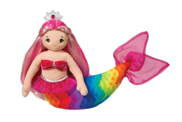 arissa rainbow stuffed mermaid