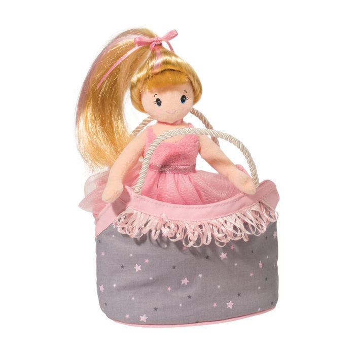 princess ballerina doll with designer tote bag.