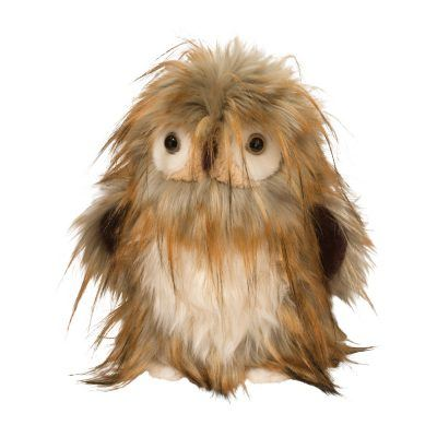 fun shaggy stuffed animal owl with long hair.