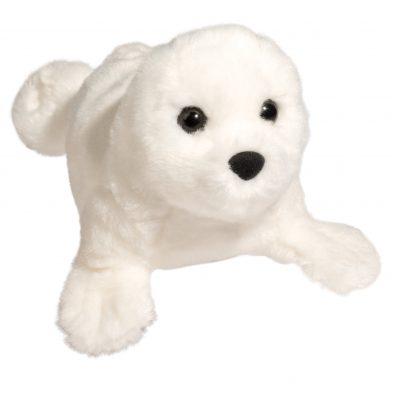 White Stuffed Seal Toy