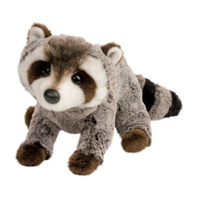 Soft plush raccoon stuffed animal