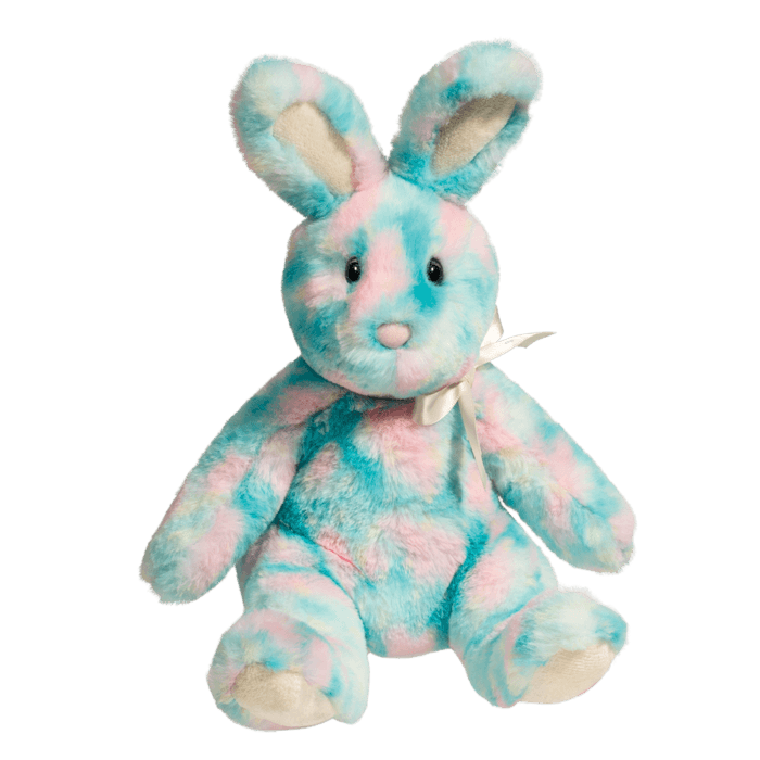 Blue and Pink Stuffed Bunny