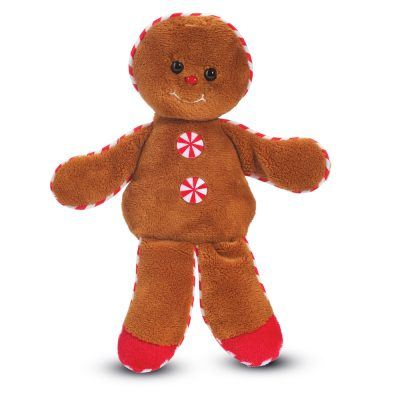 Gingerbread boy stuffed toy.