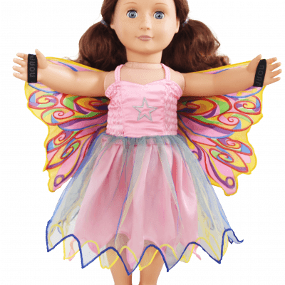 fairy rainbow doll dress