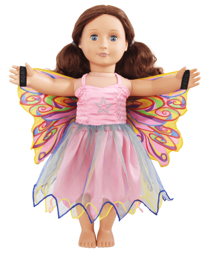 fairy rainbow doll dress