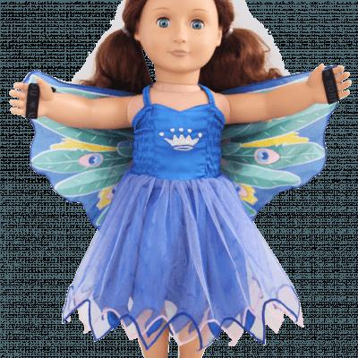 peacock doll dress