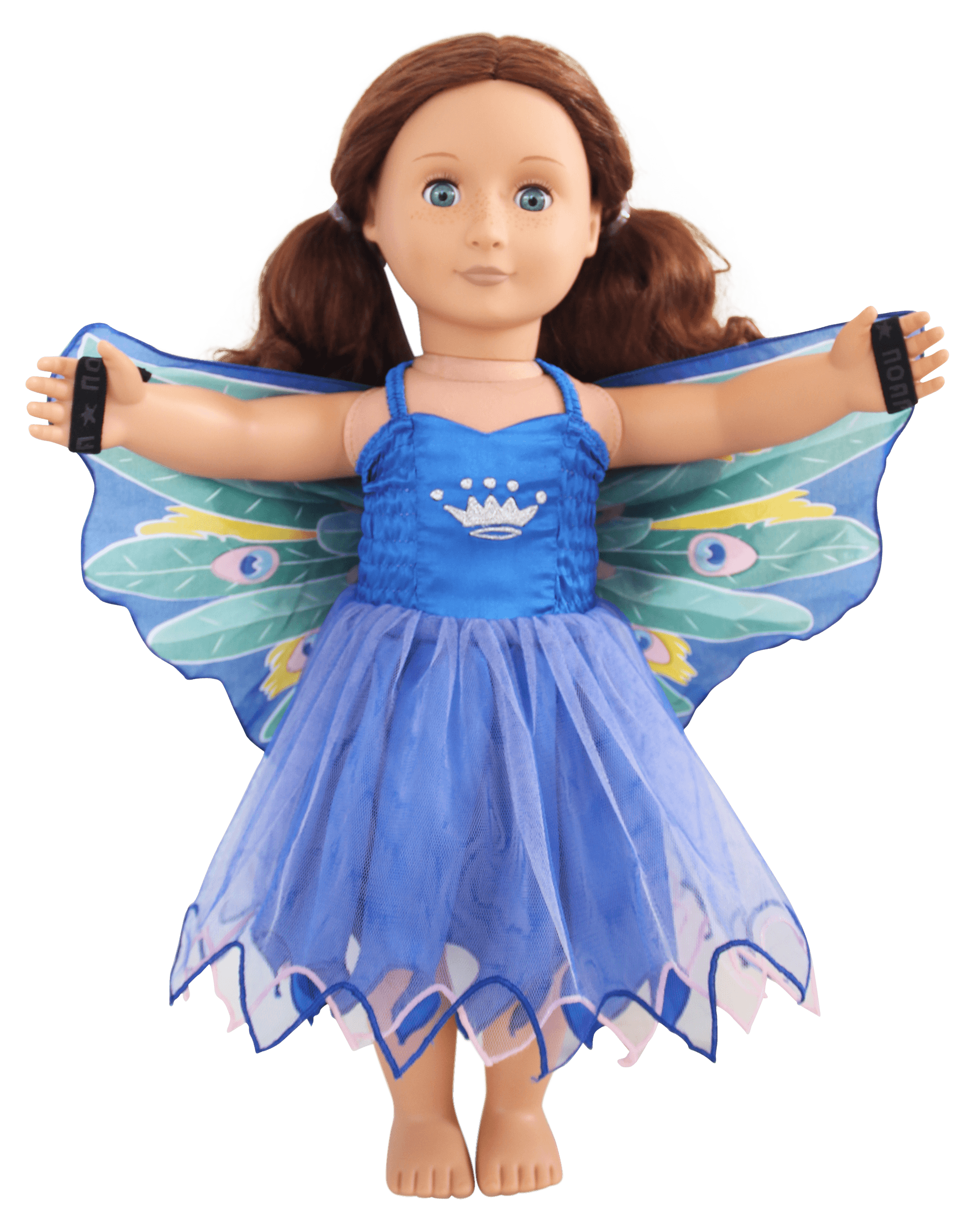 peacock doll dress