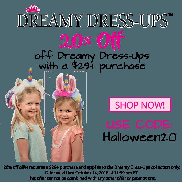 20% off Dreamy Dress-Ups