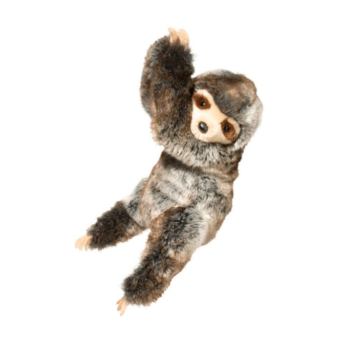 soft and cuddly hanging stuffed animal sloth