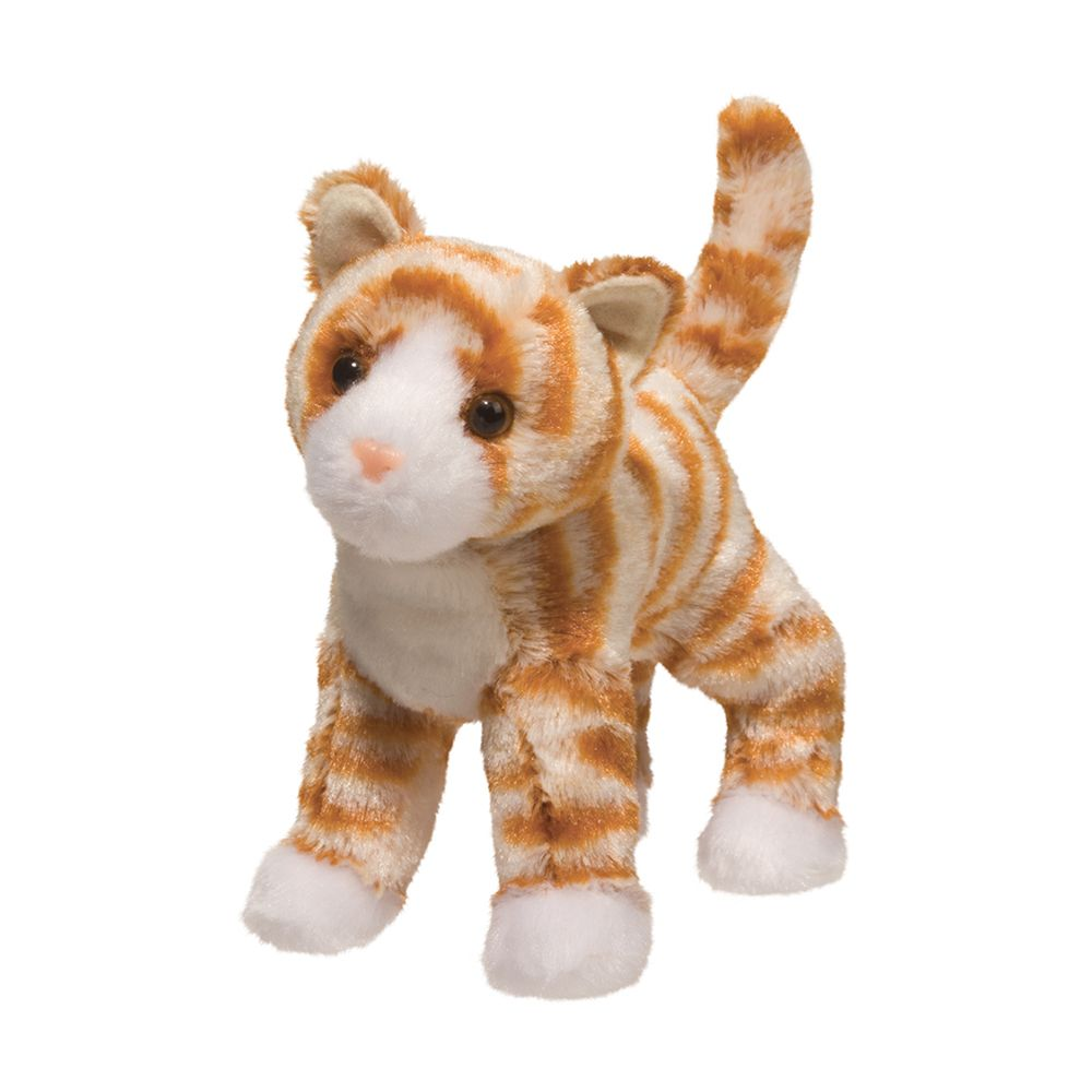 Hally Orange Striped Cat Douglas Toys
