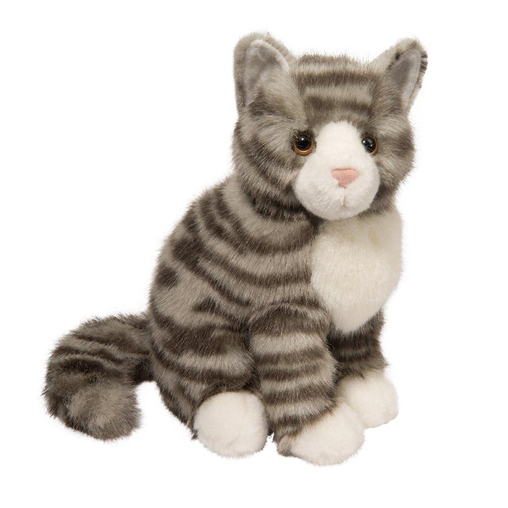 Nickel Grey Stripe Cat Douglas Toys