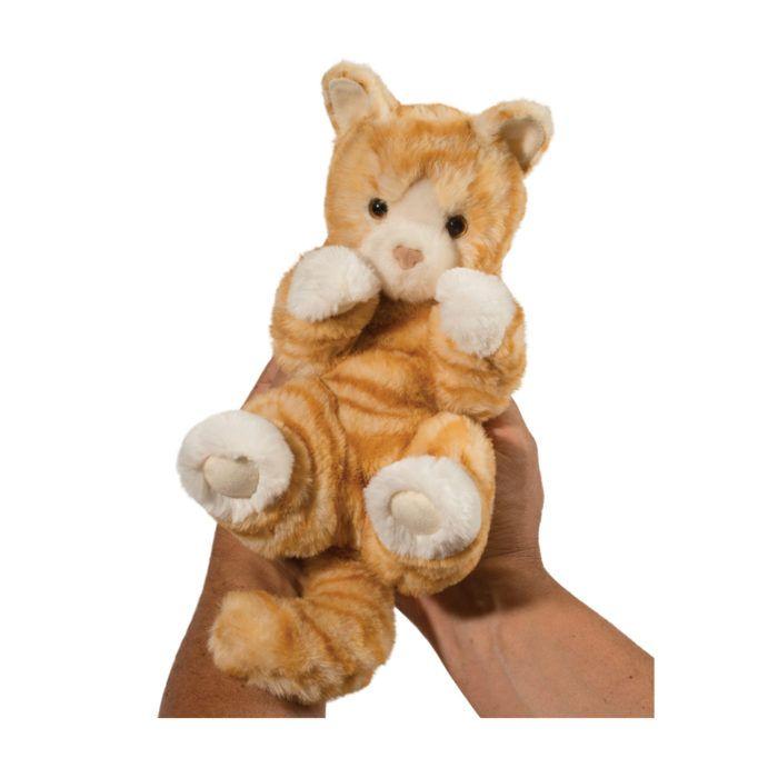 Orange cat stuffed animal.
