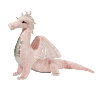 Large pink dragon stuffed animal by Douglas Cuddle Toys