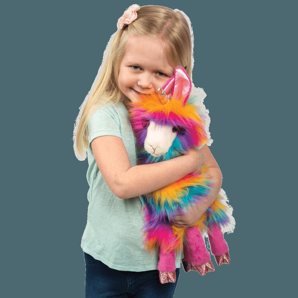 Rainbow Plush Llama