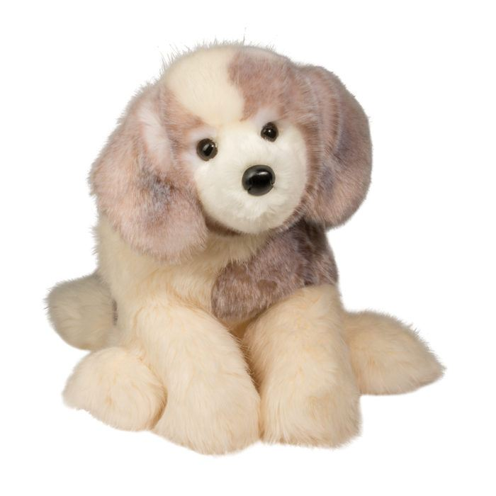 Large, under stuffed and extremely soft deluxe Great Pyrenees stuffed animal.