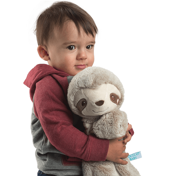 Boy With Sshlumpie - Baby Sloth Toys
