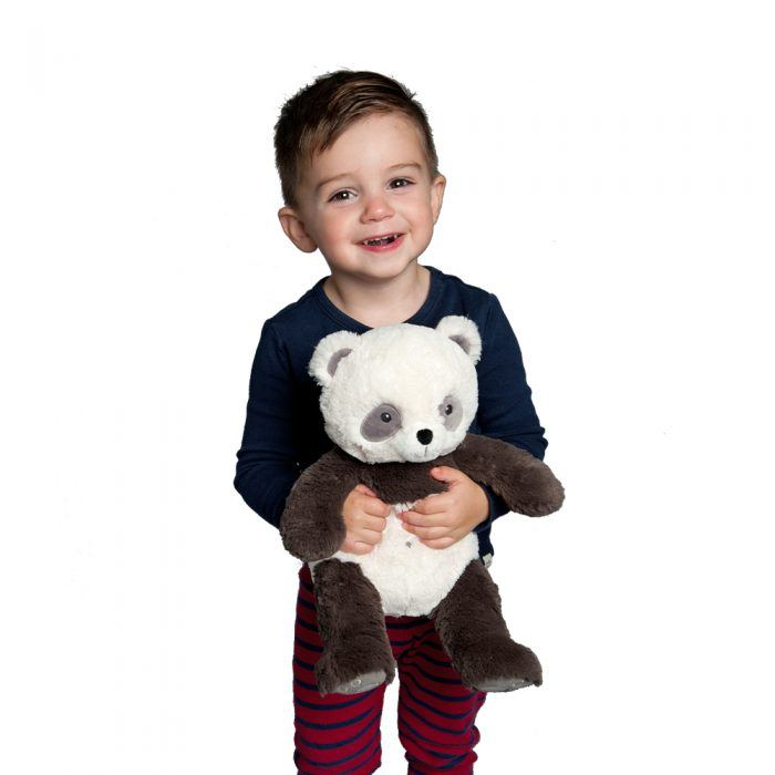 Cuddly Panda Bear for baby is super soft and squishy.