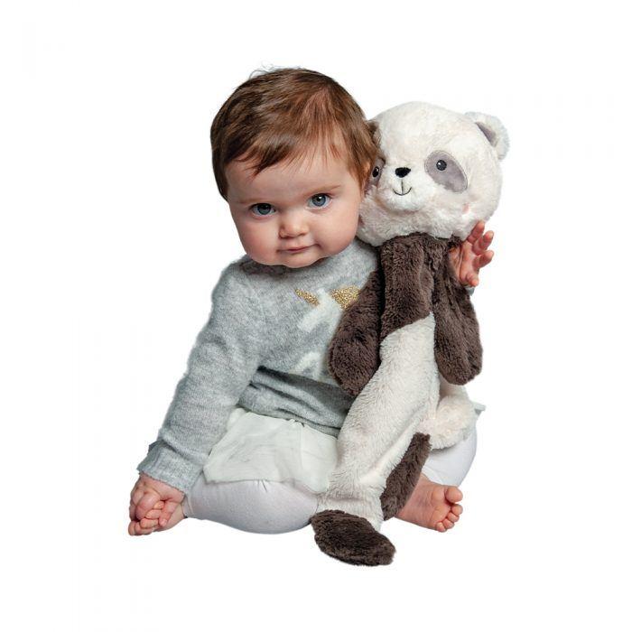 Soft panda cuddler for babies.
