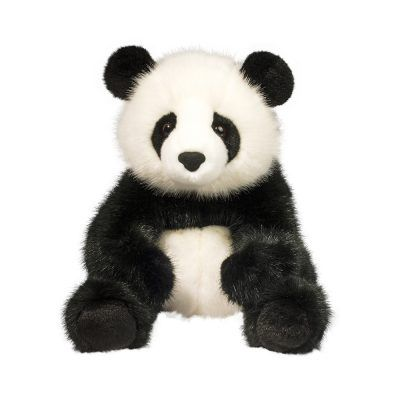 Large, soft panda bear stuffed animal in Deluxe materials.