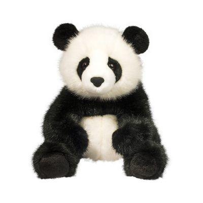 Large, soft panda bear stuffed animal in Deluxe materials.