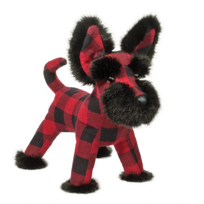 Holiday Scottish Terrier scotty dog stuffed animal.