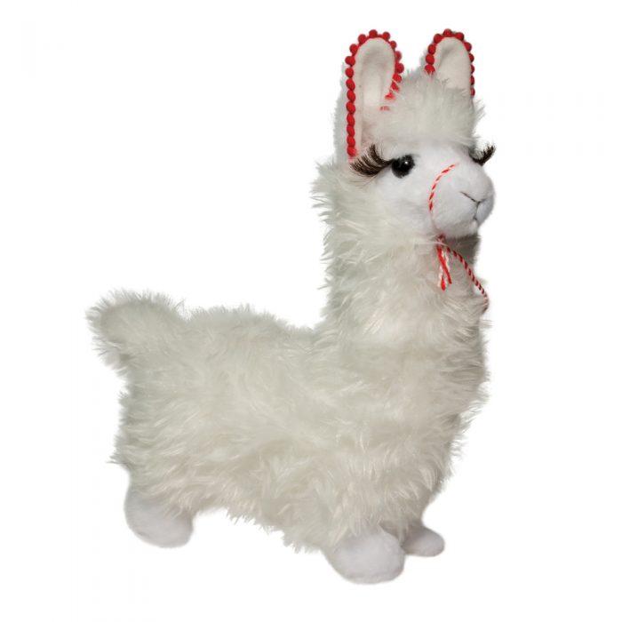 Large white stuffed animal llama.