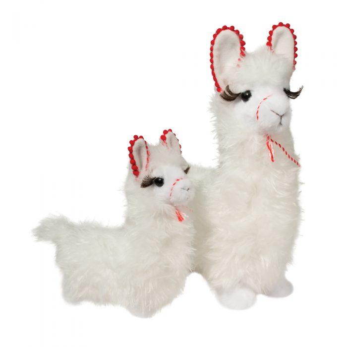 Holiday plush toy llamas.