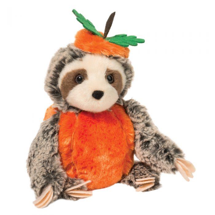 Halloween jack o lantern sloth stuffed animal!